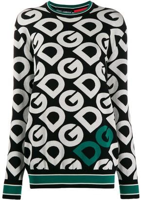 Dolce & Gabbana Repeated-Logo Jumper