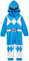Intimo Power Ranger Blue Fleece Hooded Suit Pajamas - Toddler & Boys