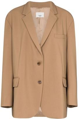 Bea Yuk Mui single-breasted boxy blazer