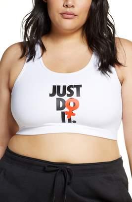 Nike Rebel Swoosh Just Do It Dri-FIT Sports Bra
