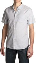 Jachs Stripe Oxford Shirt - Short Sleeve (For Men)