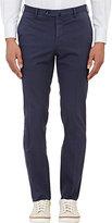 Incotex Men's M-Body Modern-Fit Stretch-Cotton Trousers-NAVY
