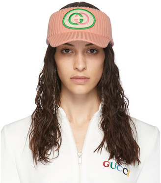 Gucci Pink Wool Interlocking G Visor