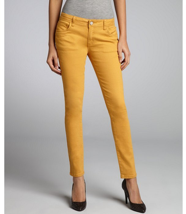 Romeo & Juliet Couture mustard stretch denim skinny jeans