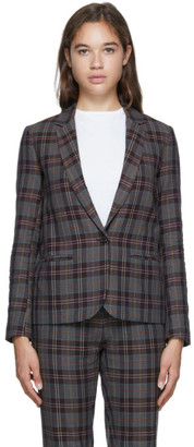 6397 Purple Check Perfect Blazer