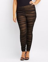 Charlotte Russe Plus Size Mesh Ruched Leggings