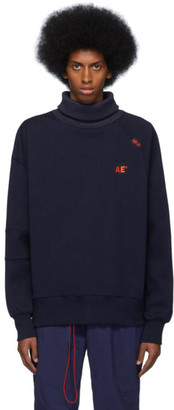 ADER error Navy Oversized Turtleneck
