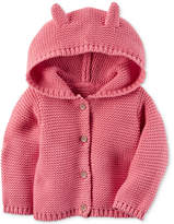 Carter's Hooded Ears Cotton Cardigan, Baby Girls