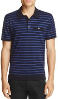 Todd Snyder Striped Silk Cotton Regular Fit Polo Sweater