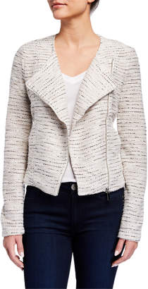 Bagatelle Collarless Boucle Knit Jacket