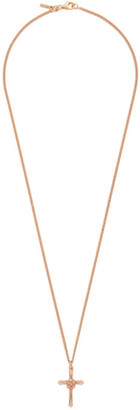 Emanuele Bicocchi SSENSE Exclusive Rose Gold Thin Cross Necklace