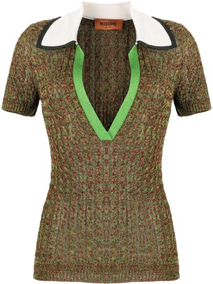 Missoni Knitted Short Sleeved Polo Shirt