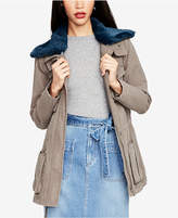 Rachel Roy Faux-Fur-Collar Utility Jacket, Created for Macy's