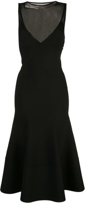 Proenza Schouler Matte Turtleneck Sleeveless Knit Dress