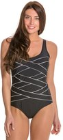 Jones New York Crisscross Bandage Tank One Piece Swimsuit 8124049