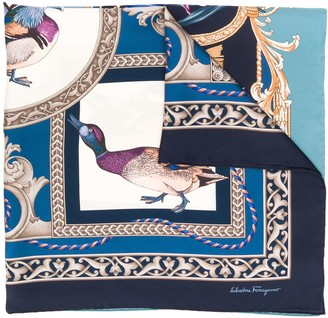 Salvatore Ferragamo Heritage print square scarf