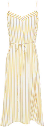 Rag & Bone Ilona Striped Silk-cady Midi Slip Dress