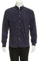Acne Studios Leopard Print Button-Up Shirt