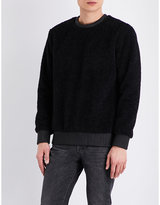 Helmut Lang Leather-trim Wool-effect Jumper