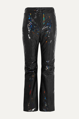 Fendi Appliqued Holographic Padded Ski Pants - Black