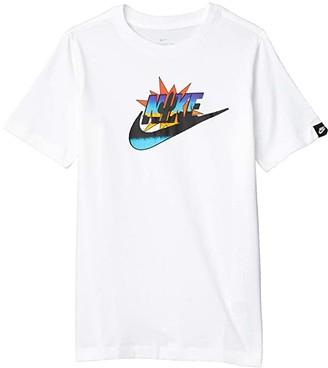 Nike Kids NSW Futura Cactus Tee (Little Kids/Big Kids) (Dark Grey Heather) Boy's T Shirt