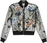 Markus Lupfer floral embroidered embellished bomber jacket