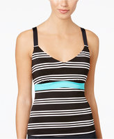 Jag Harbour Stripe Printed D-Cup Tankini Top