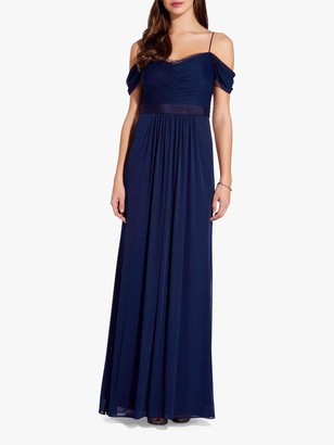 Adrianna Papell Tulle Draped Gown