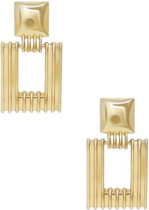 Ettika Textured Square Earrings