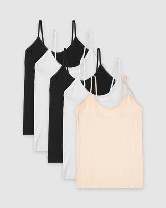 Boody Organic Bamboo Eco Wear - Women's Black T-Shirts & Singlets - 5-Pack Cami Top - Size One Size, S at The Iconic