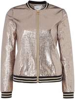 Suncoo Long sleeves Dean Metallic Bomber Jacket