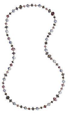 JCPenney Asstd Private Brand Hematite & Purple Bead Long Strand Necklace