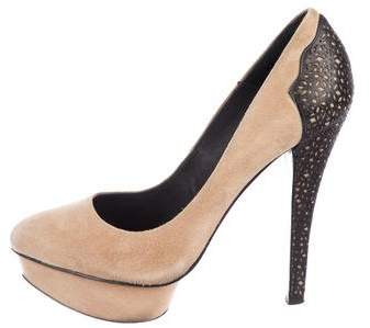 Elizabeth and James Suede Platform Pumps