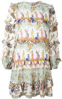 No.21 printed ruffled dress - women - Viscose/Acetate/Silk - 42