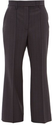 Acne Studios Patrina High-rise Pinstriped Wool Trousers - Womens - Navy