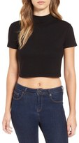Leith Mock Neck Crop Top