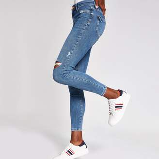 River Island Womens Mid Blue Molly jeggings