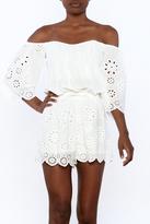 Tcec White Crochet Romper