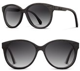 Shwood Women's 'Madison' 54Mm Round Wood Sunglasses - Black/ Grey Fade