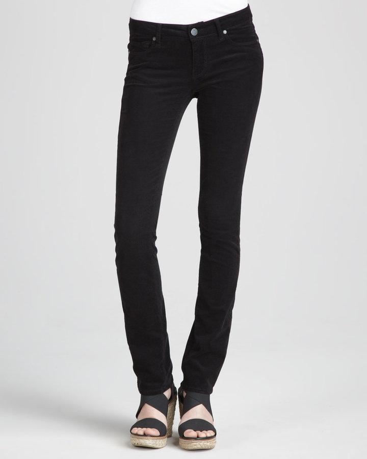 Paige Verdugo Skinny Cords, Black