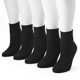 Sonoma Goods For Life Women's SONOMA Goods for Life 5-pk. Ribbed Cuff Crew Socks
