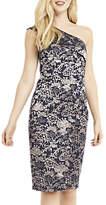 Oasis Jacquard One Shoulder Dress, Multi