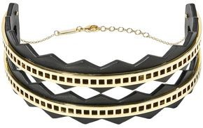 Arme De L'amour + Sally Lapointe Gold-plated And Leather Choker