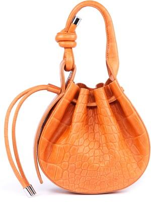 behno Mini Ina Pebbled Leather Bucket Bag
