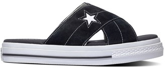 Converse One Star Sandal Suede Trainers with Flatform Heel