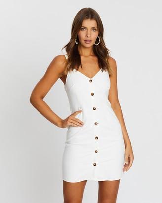 Atmos & Here Poppy Button Front Mini Dress