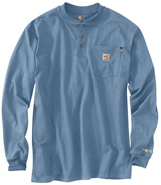 Carhartt Flame-Resistant Force(r) Cotton Long Sleeve T-Shirt (Light Gray) Men's Clothing