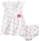 Circo Infant Girls' 2 Piece Dress Set - True White