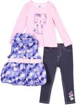 Kids Headquarters Pink & Purple Belted Vest Set - Infant Toddler & Girls