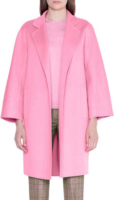 Akris Cashmere Double-Face Open-Front Jacket